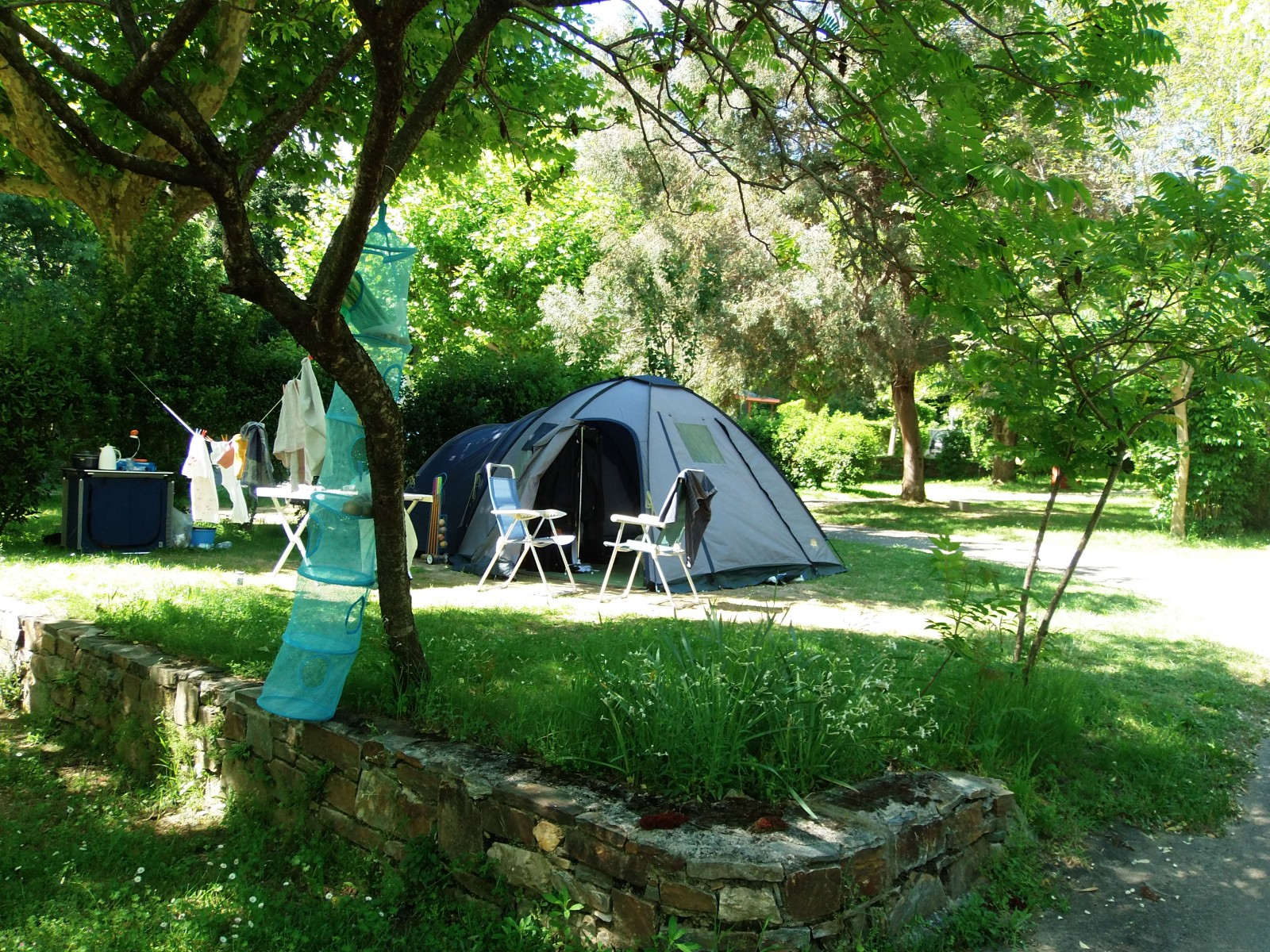 Pitches Camping Des Sources in the Gard