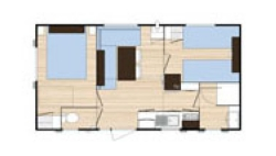 Plan Chalet 2 pers